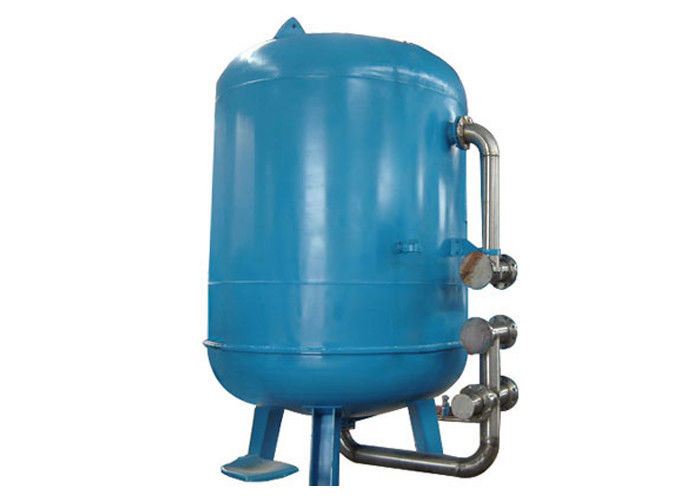 Activated Carbon Mechanical Water Tank Filter For Organic And Color Impurities Removal Inlet / Outlet DN100