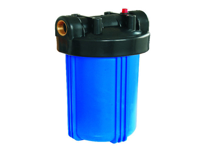 "Big Blue Plastic Cartridge Filter Vessels Housing Dia 4-1/2"" L 10 Inch With Vent Valve For Pretreatment Of RO"