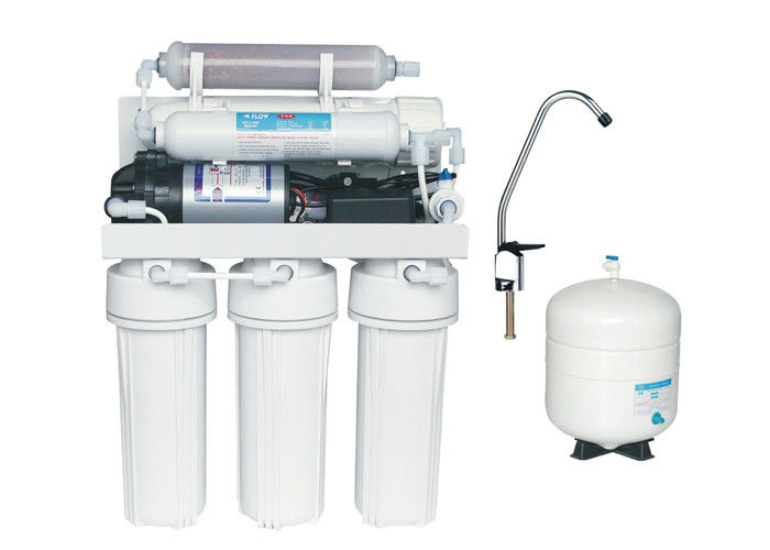 "Manual flush Brackish Water Reverse Osmosis Systems with 10"" slim double O-ring Cartridge housing"