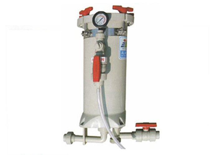 "Chemical filtration systems with PVDF cartridge filter housing 20"" by 18 elements"